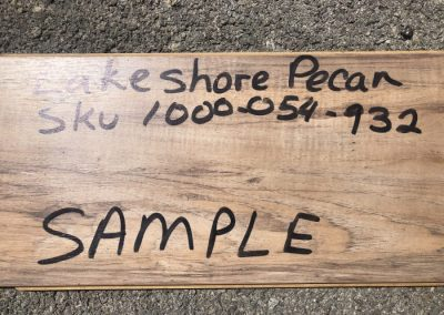 pecan wood sample from home depot
