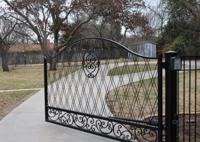 Anita Driveway Gate Open