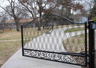Custom Iron Driveway Gate