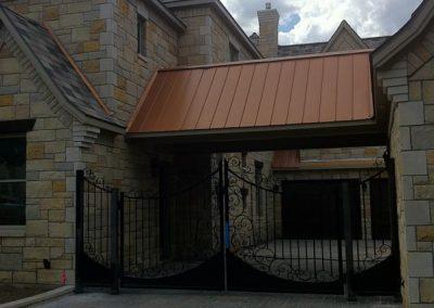 Boyd Custom Iron Driveway Gate After