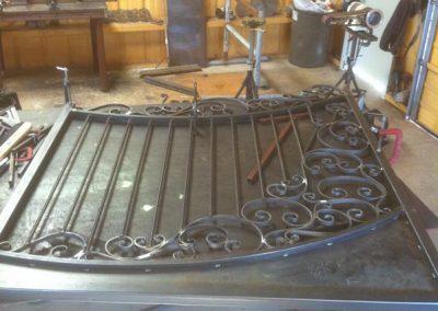 Boyd custom iron driveway gate