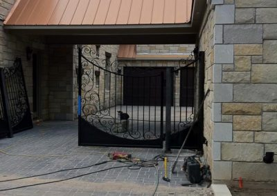 Boyd custom iron driveway gate install