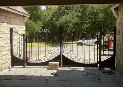 Boyd custom iron driveway gate installation
