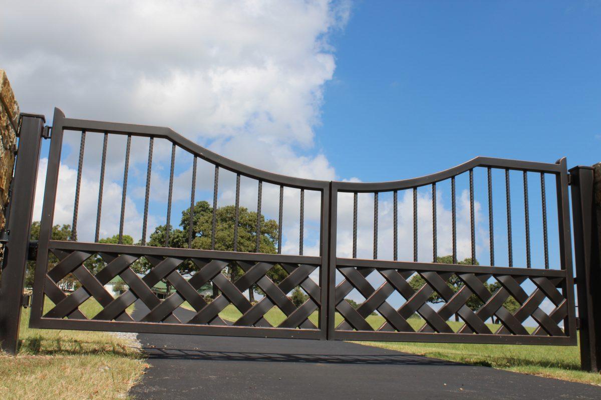 braided iron gate