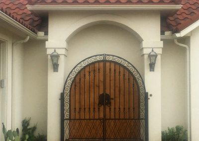 courtyard iron gate complete
