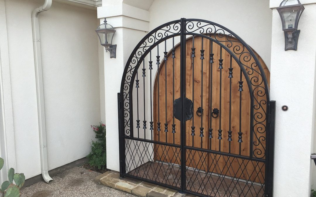 Two Entrances that are Enhanced with a Custom Gate