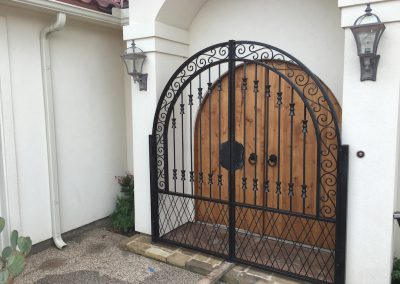 courtyard iron gate home