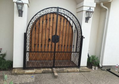 courtyard iron gate install
