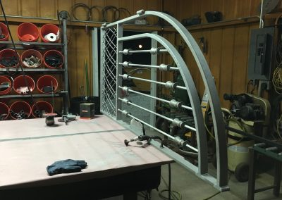 courtyard iron gate - production