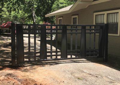 custom driveway iron gate complete