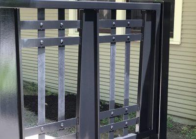 custom driveway iron gate finish
