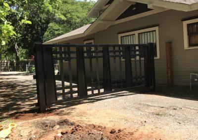 custom driveway iron gate install