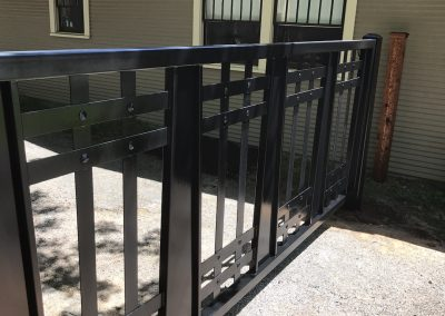 custom driveway iron gate installed