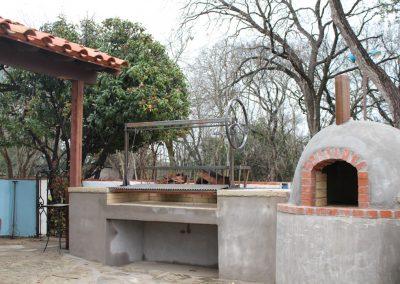 custom iron argentine grill install