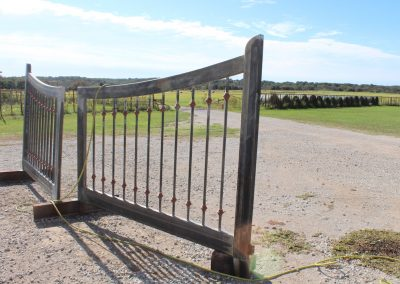 custom iron driveway gate L-A