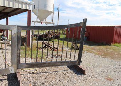 custom iron driveway gate L-B
