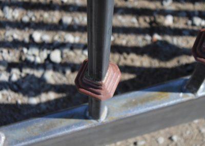 custom iron driveway gate custom details
