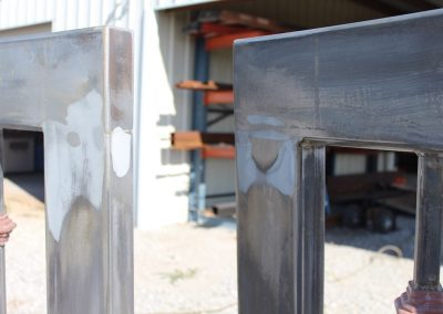 custom iron driveway gate L-F