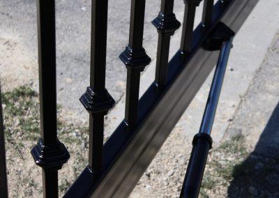 custom iron driveway gate L12