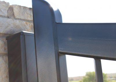 custom iron driveway gate L14
