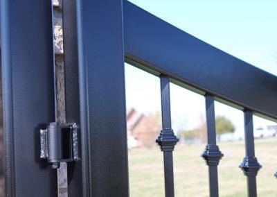 custom iron driveway gate L20