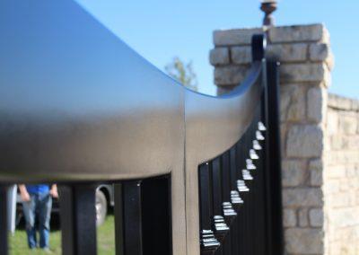 custom iron driveway gate L24