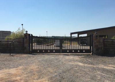 custom iron ranch gate 5