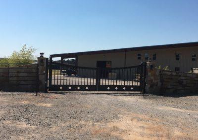 cutom iron ranch gate - 6