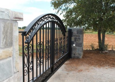 driveway iron gate details