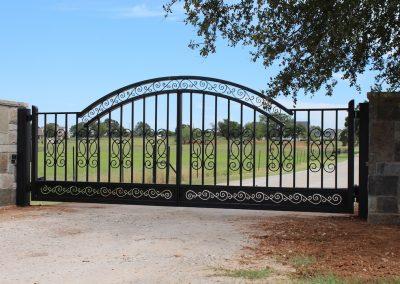 driveway iron gate installed
