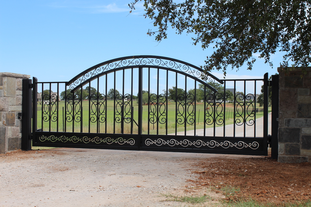 double swing iron gate