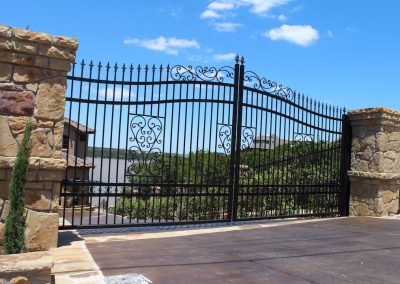 fancy custom iron driveway gate2284