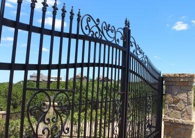 fancy custom iron driveway gate