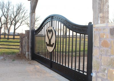 heartbrand ranch gate installed