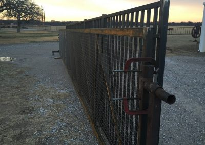 iron security gate build