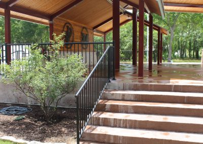 park custom iron railing