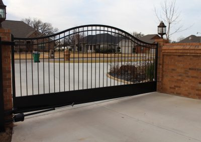 simple single driveway gate