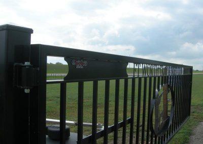 skeet club security gate complete