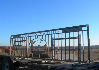 skeet club security gate installation