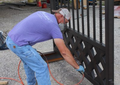 talbert custom iron driveway gate1480