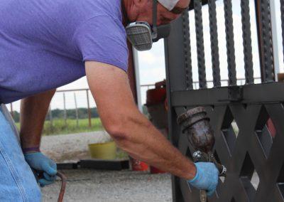 talbert custom iron driveway gate1482