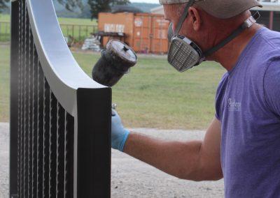 talbert custom iron driveway gate1495