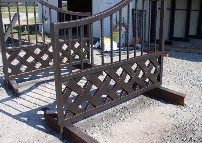 talbert custom iron driveway gate1533