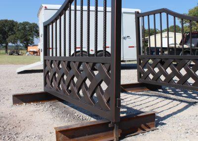 talbert custom iron driveway gate1540