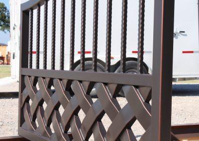 talbert custom iron driveway gate1541