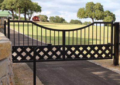 talbert custom iron driveway gate1542
