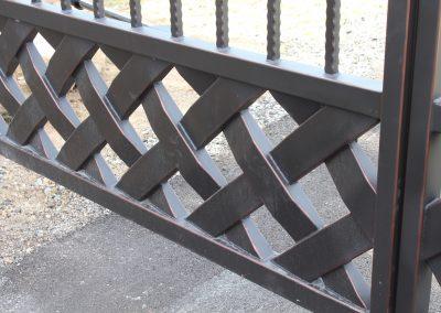 talbert custom iron driveway gate1543