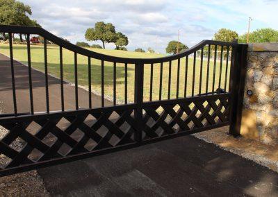 talbert custom iron driveway gate1544