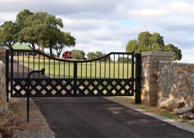 talbert custom iron driveway gate1547