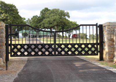 talbert custom iron driveway gate1550